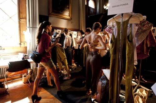 "Miriam Ponsa, Backstage, Collection ""Festa Maior"", © 080 Barcelona Fashion"