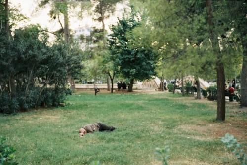 Müßiggang im Park Aleppo in Syrien