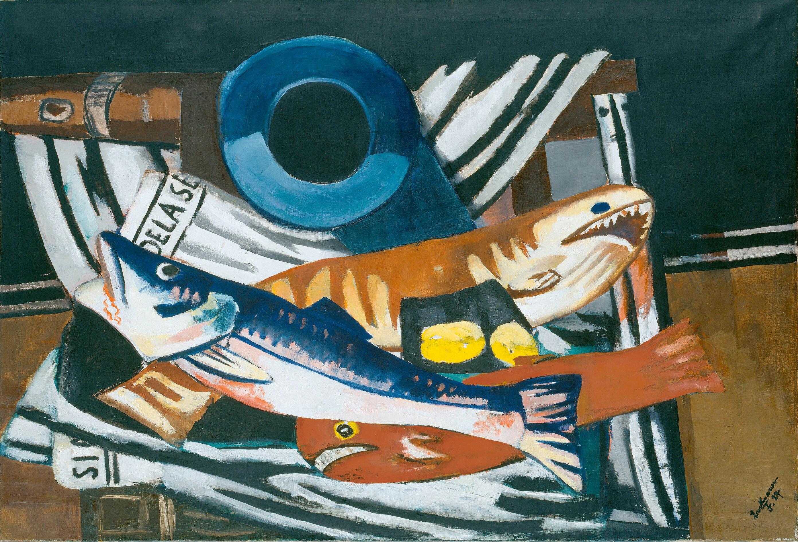 Max Beckmann,(1884-1950)  Großes Fisch-Stillleben, 1927  Öl auf Leinwand, 96 x 140,5 cm  Hamburger Kunsthalle   © VG Bild-Kunst, 2013  Photo: Elke Walford