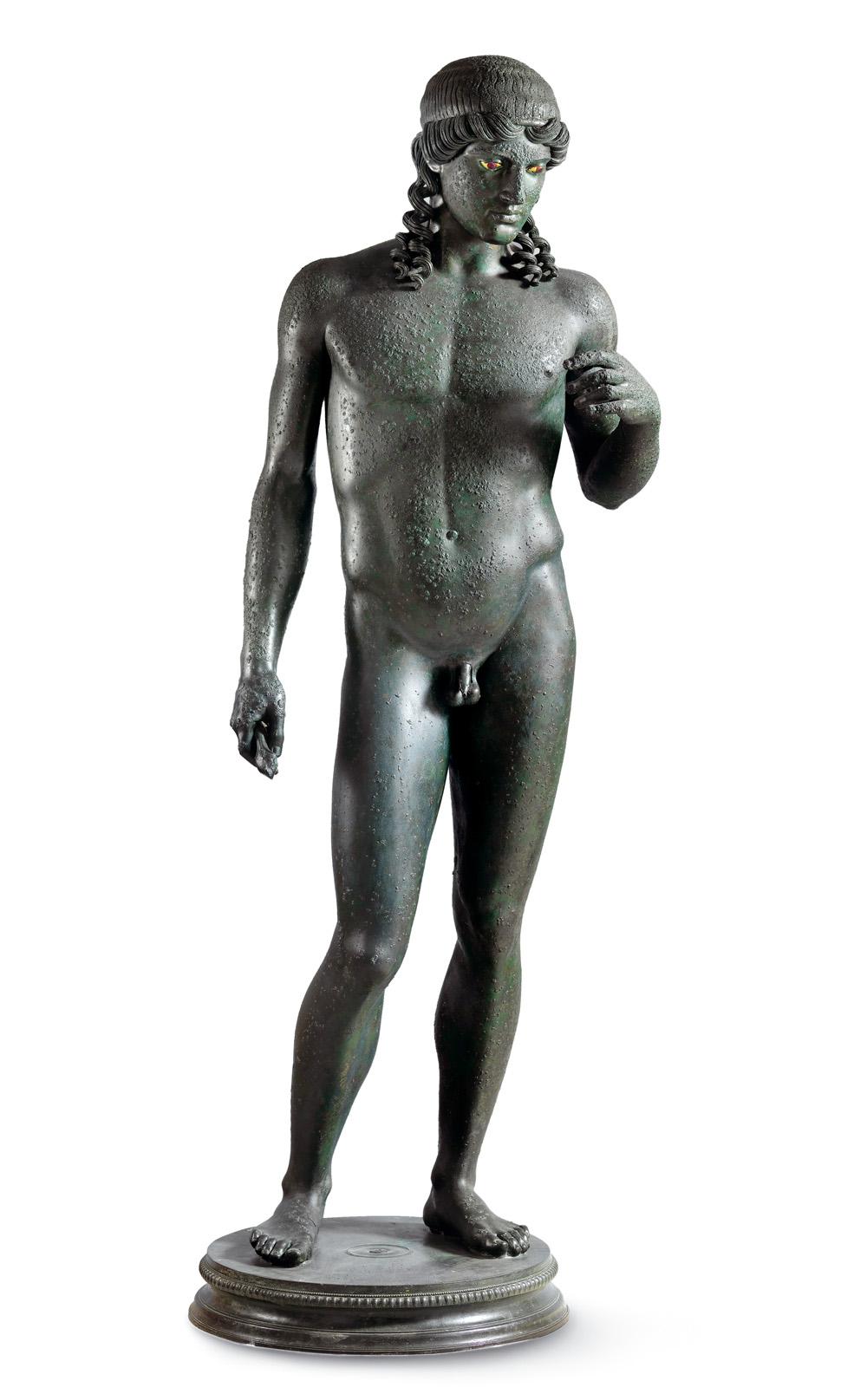 Pompeji: Statue des Apollon Kitharoedus, aus der Casa del Citarista, Spätes 1. Jahrhundert v. Chr., nach 50 v. Chr., Archäologisches Nationalmuseum Neapel