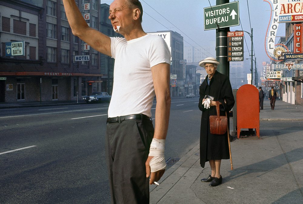 Fred Herzog: Man with Bandage, 1968. Courtesy of Equinox Gallery, Vancouver © Fred Herzog, 2014