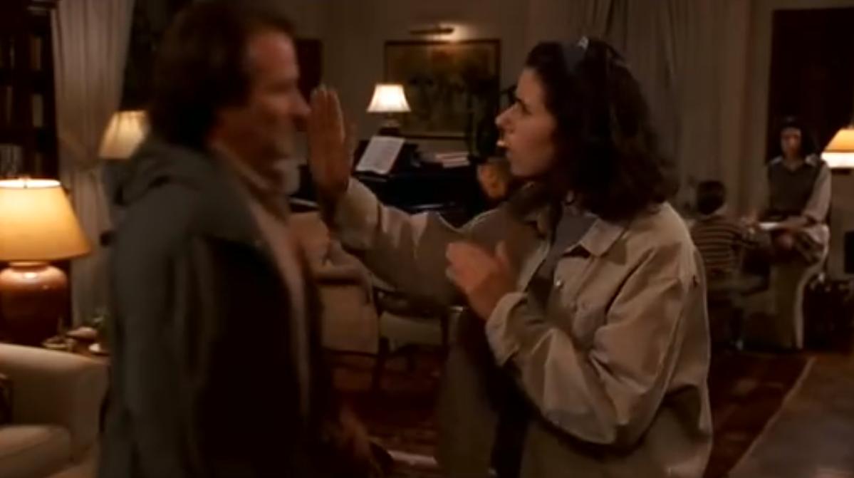 """""""I'm out of focus"""". Dieses Schicksal ereilt Robin Williams in seiner Rolle als Schauspieler in dem Woody-Allen-Film """"Deconstructing Harry"""" als er sich zeitweise nicht beachtet und wertlos fühlt."""