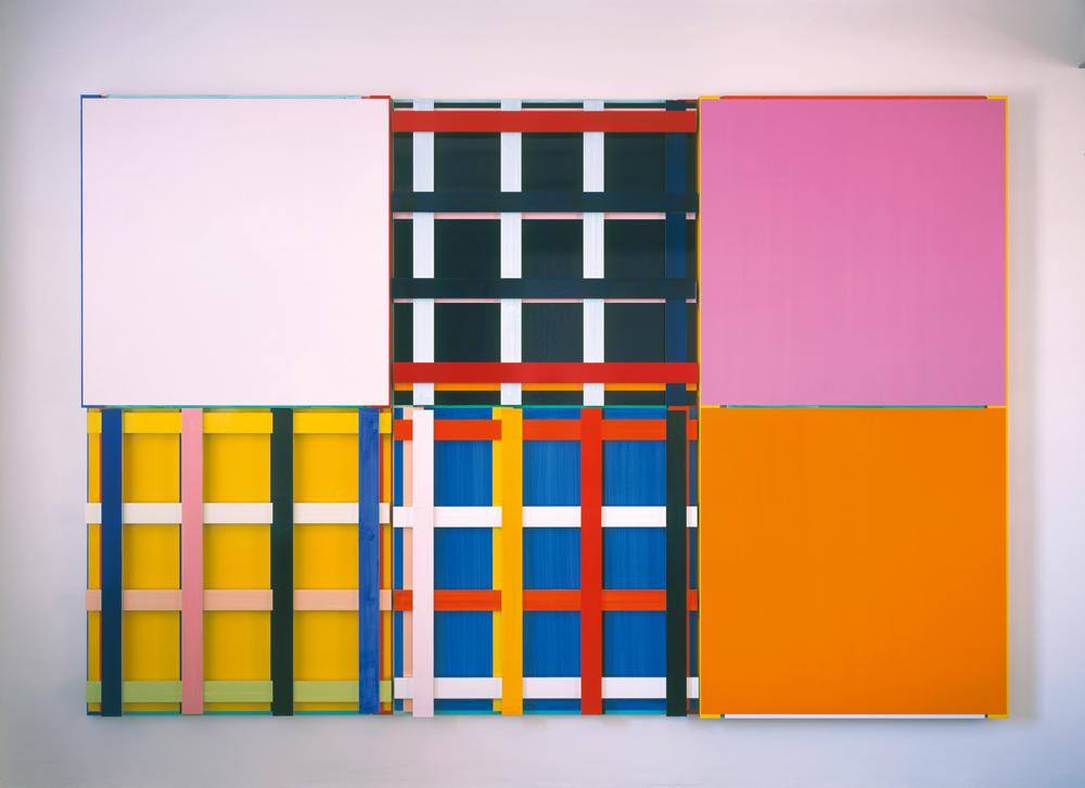 Imi Knoebel: ALIAAA, 2002 Acryl, Aluminium, 306 x 455,8 x 10,8 cm SCHAUWERK Sindelfingen Foto: Ivo Faber © VG Bild-Kunst, Bonn 2014