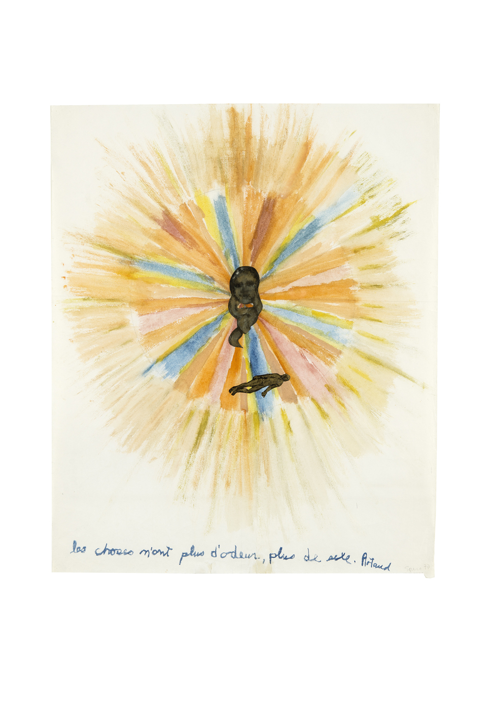 "Nancy Spero: ""Artaud Paintings - Les Choses n'ont plus d'odeur"", 1970, Courtesy of the Artist"