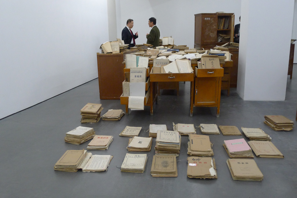 "Secret Signs: Mao Tongqiang: ""Archives"" 2011-12, Foto: Klaas"