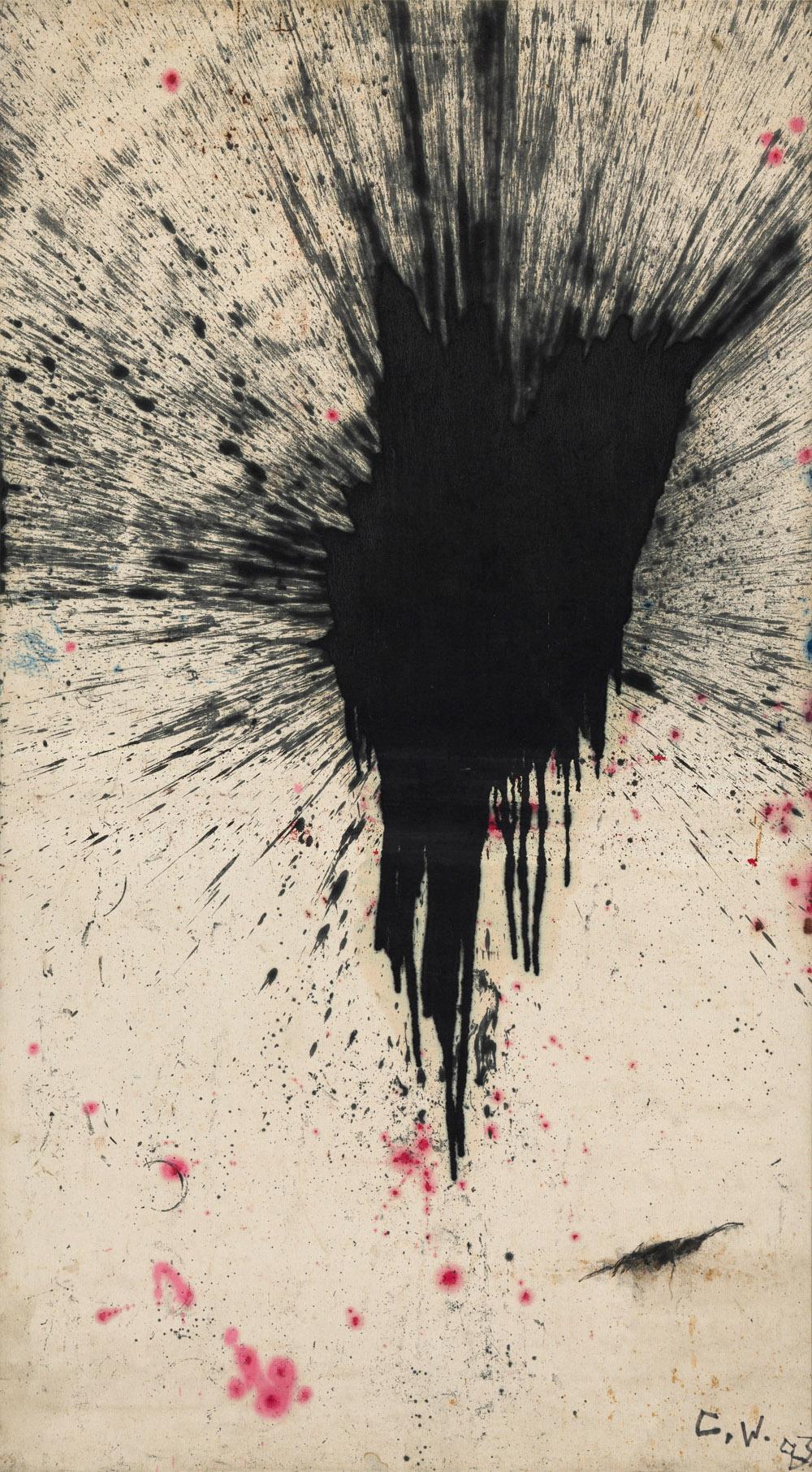 "ZHANG Wei, ""AB17"", 1983, Öl auf Leinwand, 203,5 x 113 cm © ZHANG Wei, courtesy Sammlung Sigg"