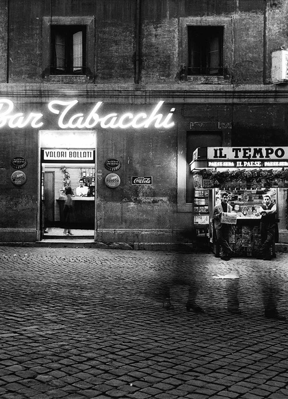 Paris Photo:  William Klein Summer evening, via di Monserrato, Rome, 1956 Gelatin silve print, printed later WILLIAM KLEIN/GALLERY FIFTY ONE Exhibitor: GALLERY FIFTY ONE