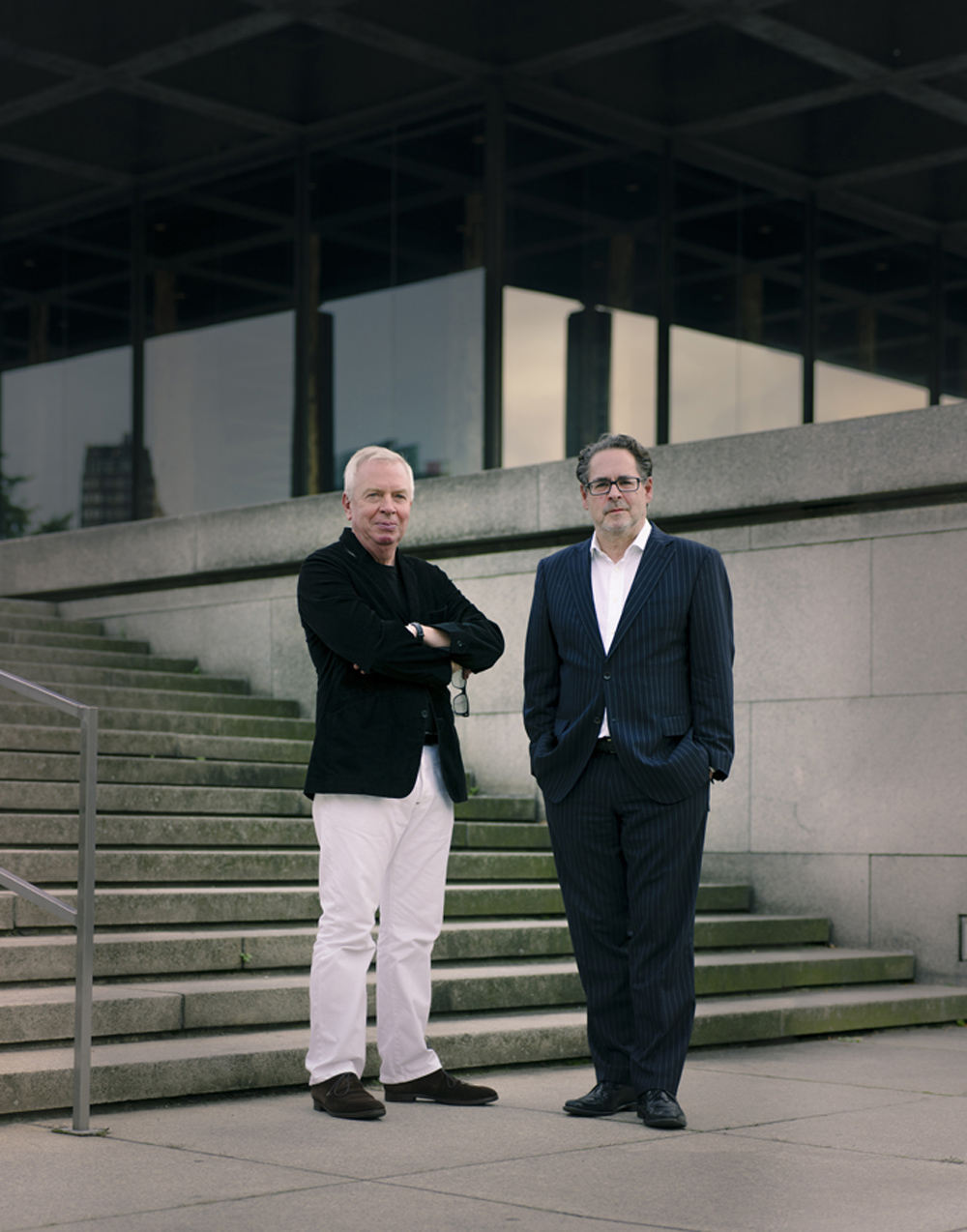 Neue Nationalgalerie: David Chipperfield und Udo Kittelmann. Foto: Simon Menges