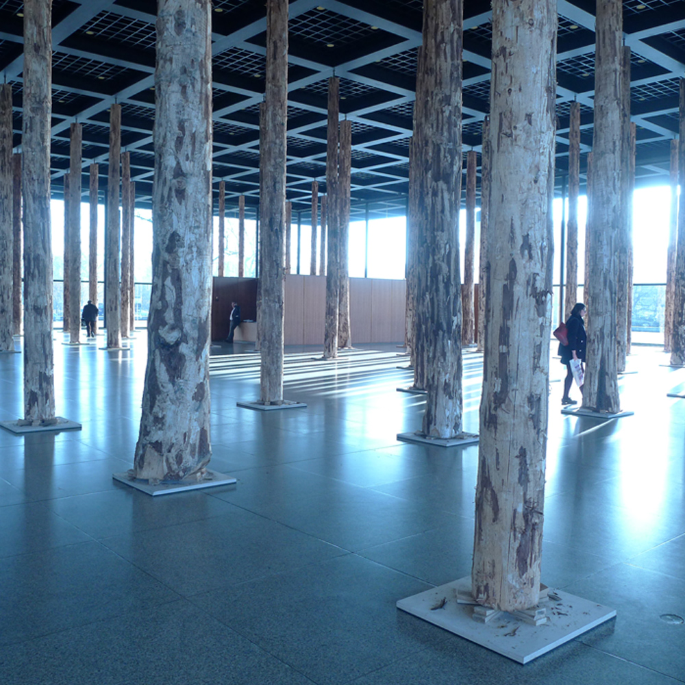 "Neue Nationalgalerie, Ausstellung David Chipperfield: ""Sticks and Stones"", Foto: Klaas"