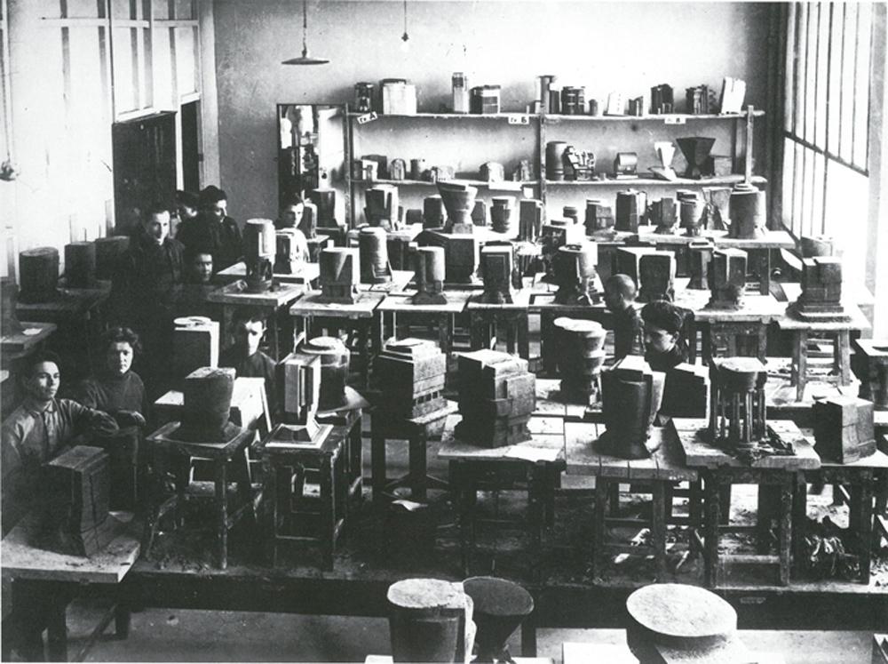 """Wchutemas: Ausstellung von Schülerarbeiten zum Thema """"Nachweis und Ausdruck von Masse und Gewicht""""  Schuljahr 1927-1928  © Staatliches Schtschussew Museum für Architektur Moskau"""