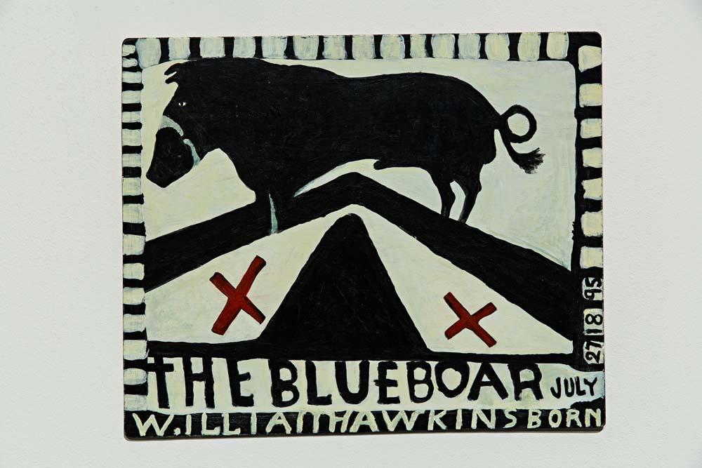 James Benning, Decoding Fear, 2015: From The Two Cabins Project (After Hawkins), 2007, Malerei. Kunstverein in Hamburg, Foto: Fred Dott. Courtesy James Benning, neugerriemschneider, Berlin.