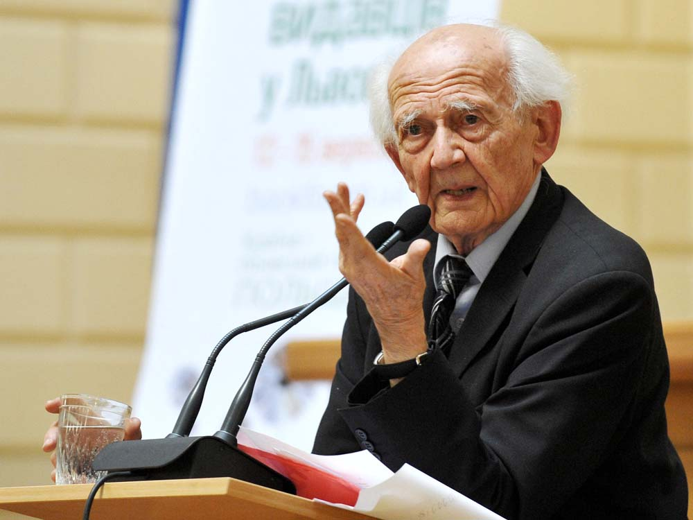 Der polnisch-britische Soziologe Zygmunt Bauman, 2013 By Forumlitfest (Own work) [CC BY-SA 3.0 (http://creativecommons.org/licenses/by-sa/3.0)], via Wikimedia Commons