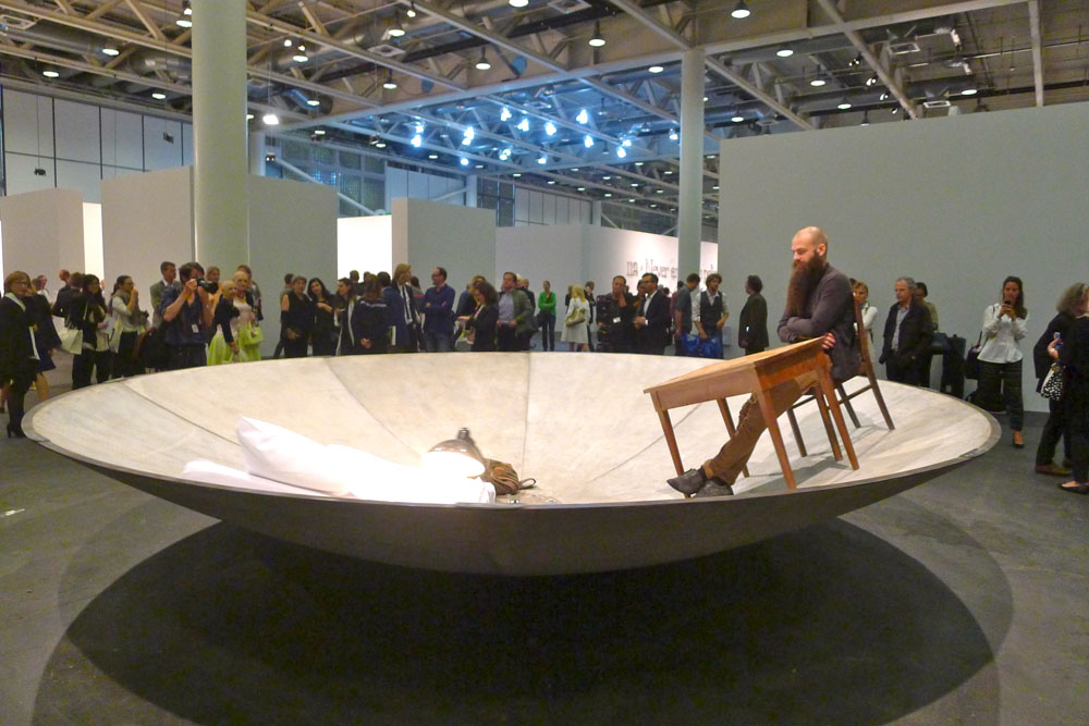 "Art Basel: Art Unlimited: Julius von Bismarck: ""Egocentric system"", 2015, Foto: Klaas"