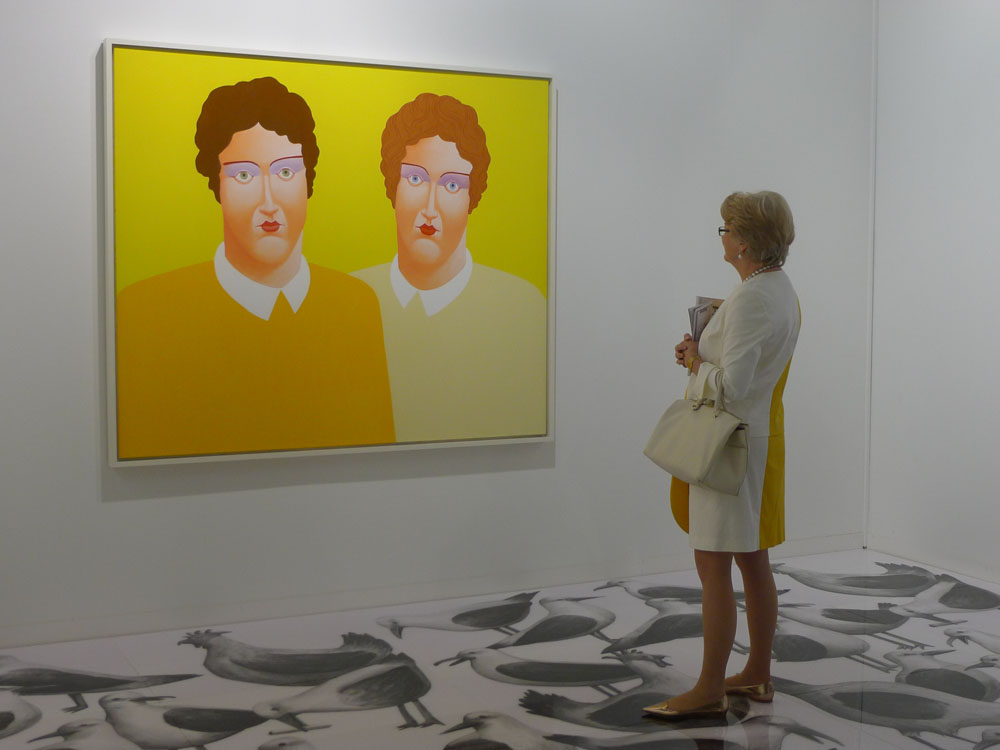 Art Basel: Nicolas Party bei der Galerie Gregor Steiger, Zürich, Foto: Klaas