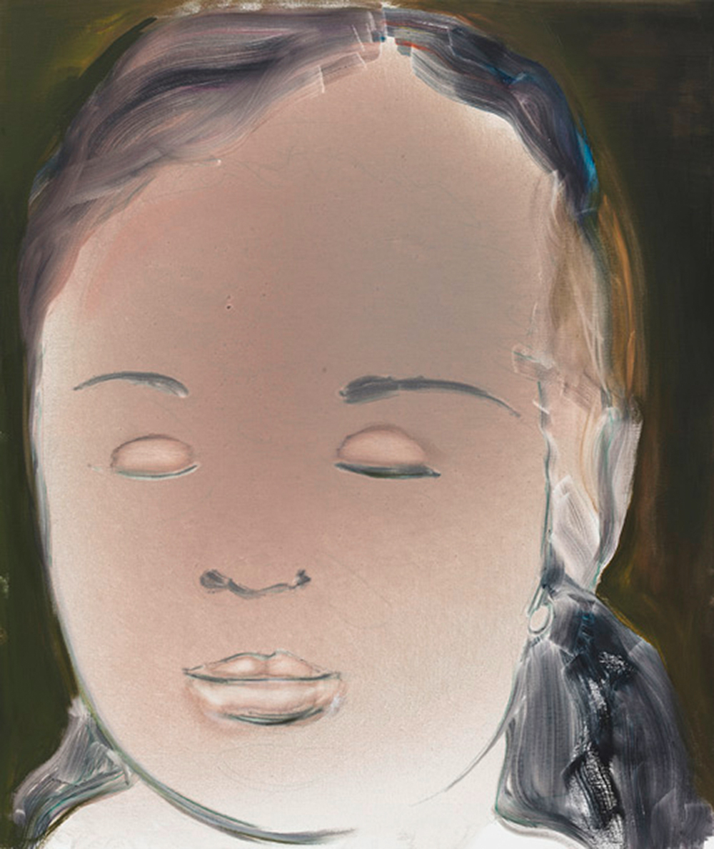Marlene Dumas Helena's Dream, 2008 Öl auf Leinwand, 130 x 110 cm Kunsthalle Bielefeld © Marlene Dumas Foto: Peter Cox, © 2015, ProLitteris, Zürich