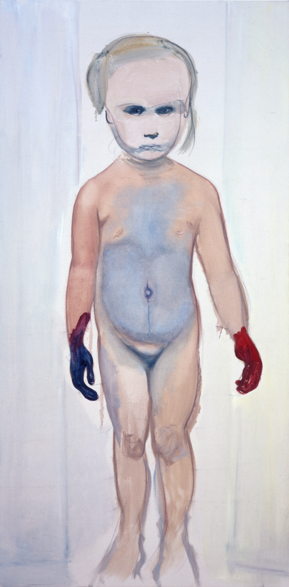 Marlene Dumas The Painter, 1994 Öl auf Leinwand, 200 x 100 cm  The Museum of Modern Art, New York, partielle und zugesagte Schenkung von Martin und Rebecca Eisenberg © Marlene Dumas  Foto: Peter Cox, © 2015, ProLitteris, Zürich