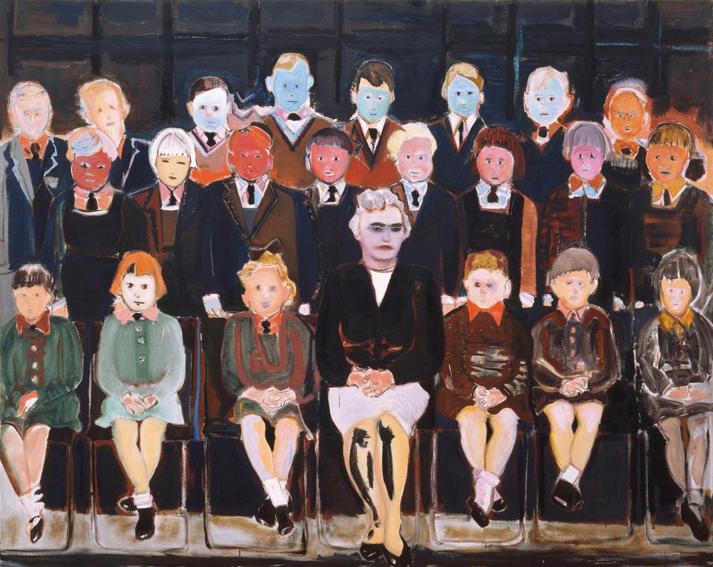 Marlene Dumas The Teacher (Sub A), 1987 Öl auf Leinwand, 160 x 200 cm Privatsammlung © Marlene Dumas Foto: Peter Cox, © 2015, ProLitteris, Zürich