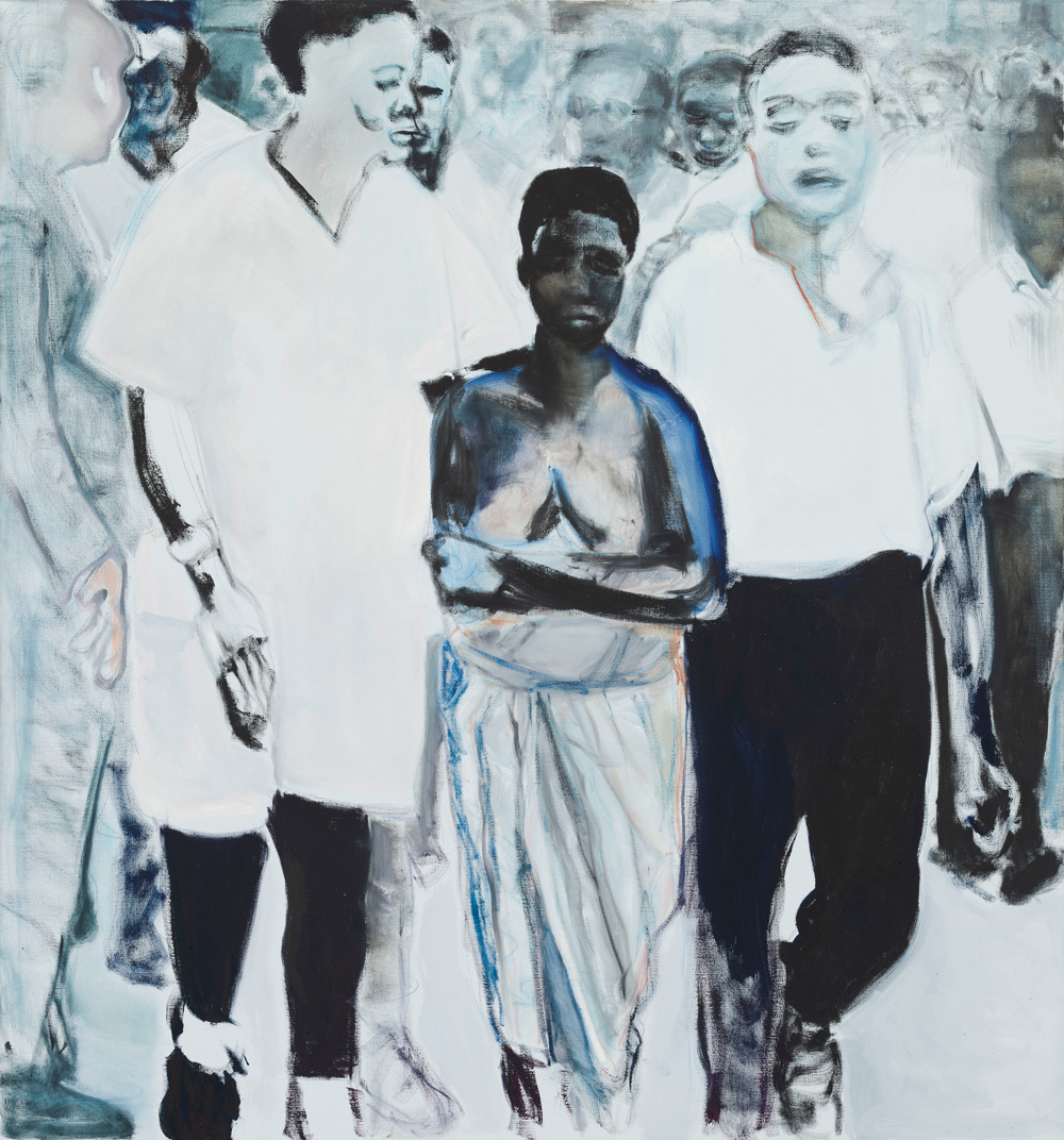 Marlene Dumas The Widow, 2013 2 Teile, Öl auf Leinwand, 150 x 140 cm Defares Collection © Marlene Dumas Foto: Peter Cox, © 2015, ProLitteris, Zürich