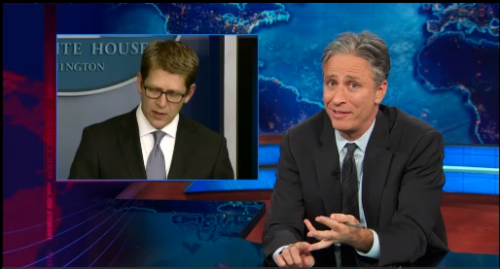 """... where is your past progressive tense, Jay Carney?"""