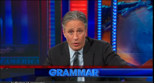 """""""By the way, this joke was brought to you by... GRAMMAR!"""""""