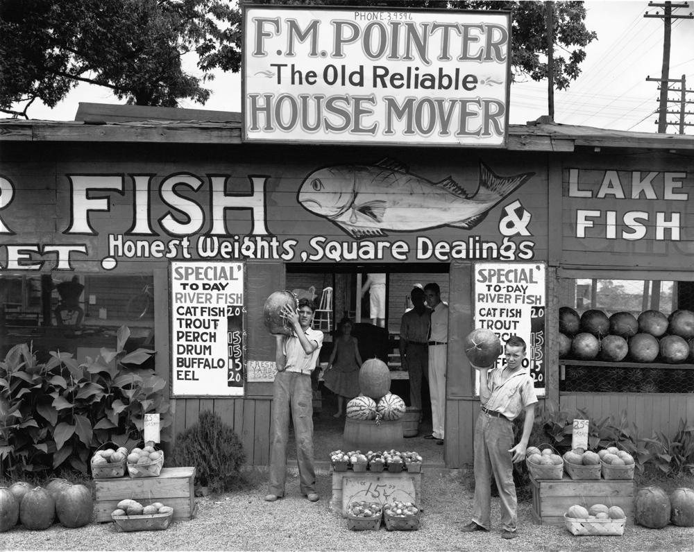 Walker Evans, Roadside Stand near Birmingham, Alabama 1936, Foto: Josef Albers Museum