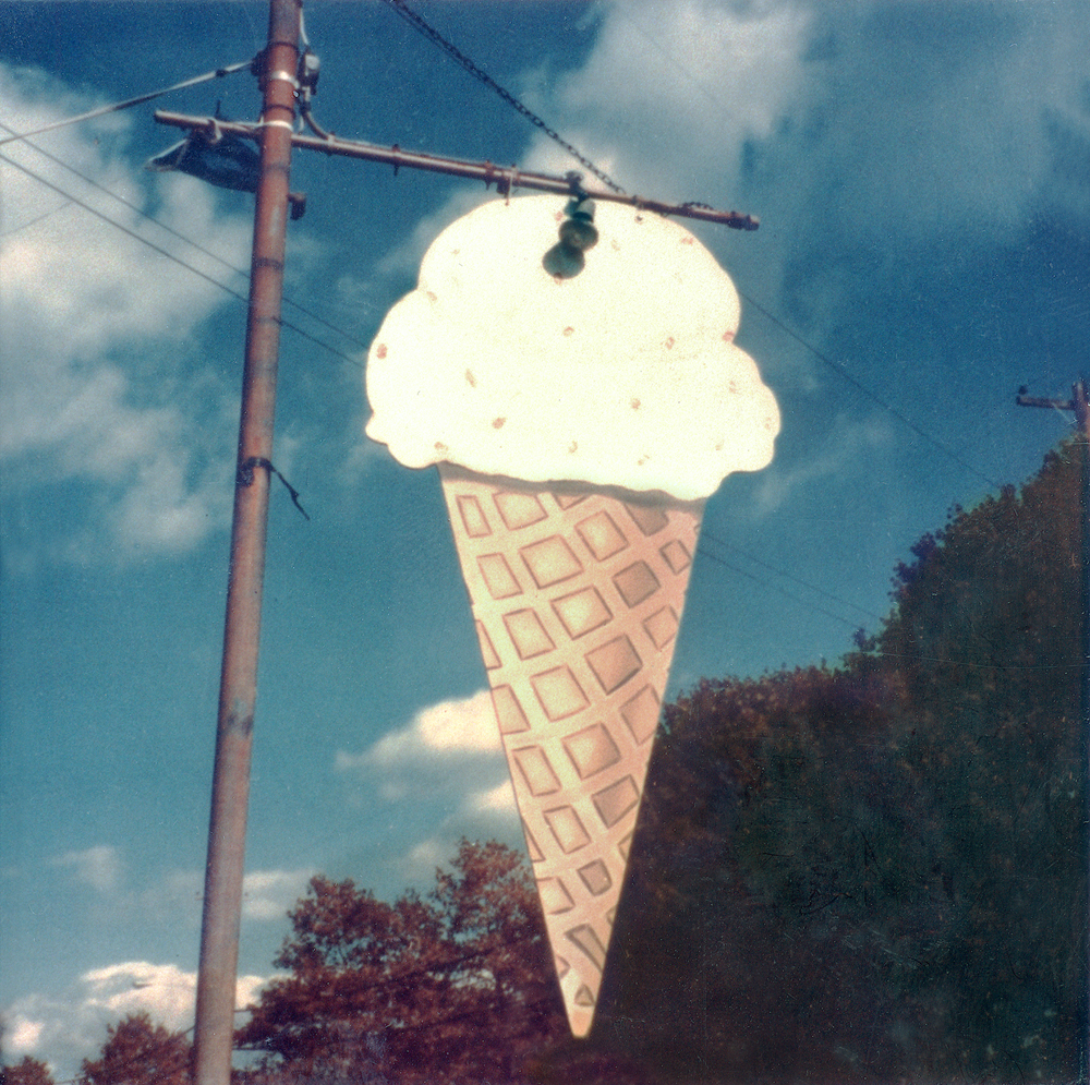 Walker Evans, Ice Cream Store Sign, New Jersey, 1973-75, Yale University Art Gallery © Walker Evans Archive, The Metropolitan Museum of Art