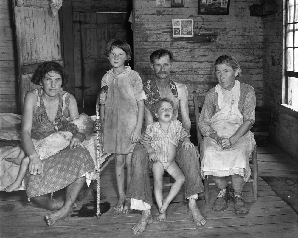 Walker Evans, Sharecropper's Family, Hale County, Alabama 1936, Museum of Modern Art, New York, Foto: Josef Albers Museum