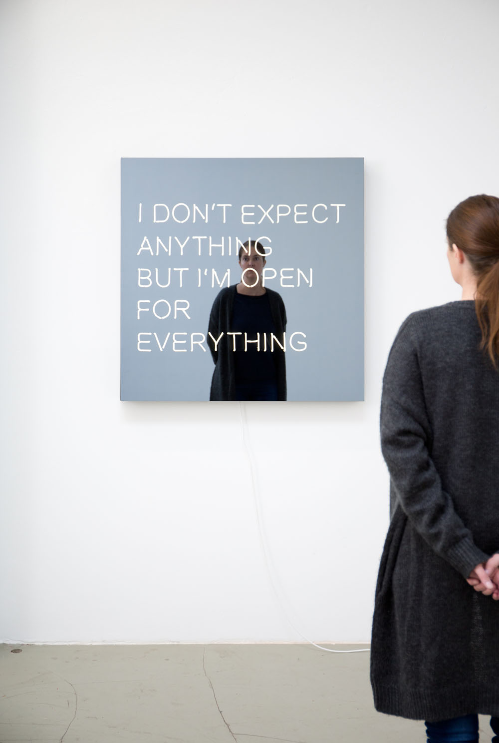 Jeppe Hein: I DON'T EXPECT ANYTHING BUT I AM OPEN FOR EVERYTHING, 2014 Foto: Studio Jeppe Hein, © Jeppe Hein