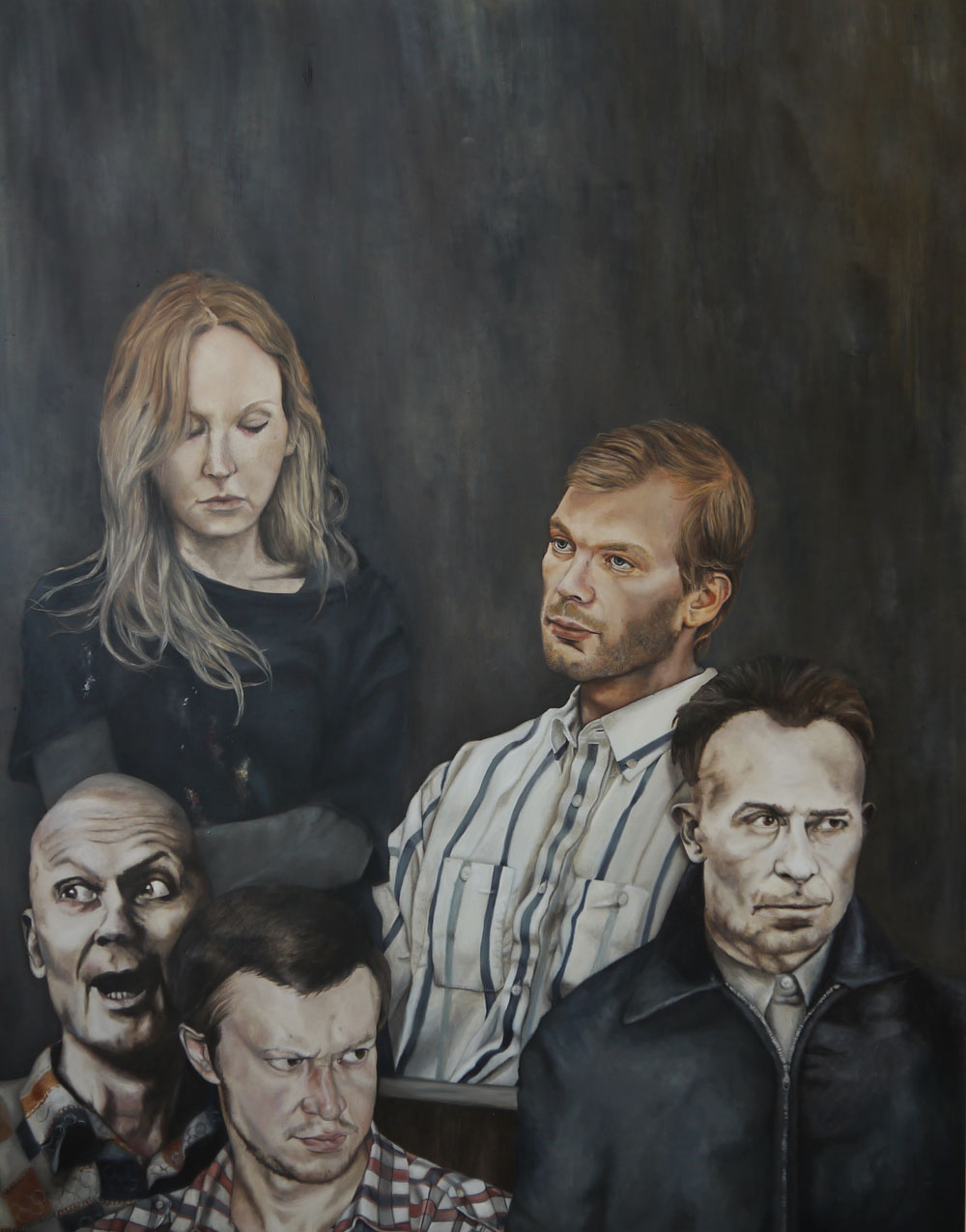 Malerei, böse: Lydia Balke: disarm, 2015 Öl auf Leinwand / Oil on canvas 140 x 110 cm (c) courtesy of the artist