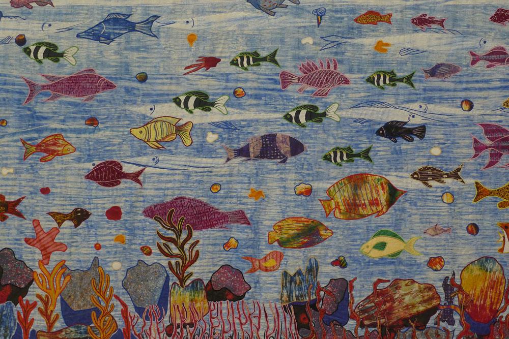 "Streamlines: Abdoulaye Konate: ""Ocean, Mother and Life"" (Detail), 2015, Foto: Klaas"
