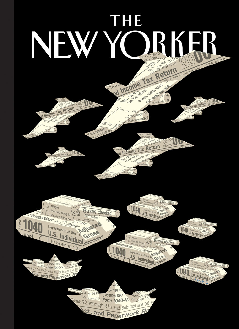 Christoph Niemann (*1970), Cover Illustration The New Yorker, 2007, Print, 20 x 27,5 cm,  © Christoph Niemann