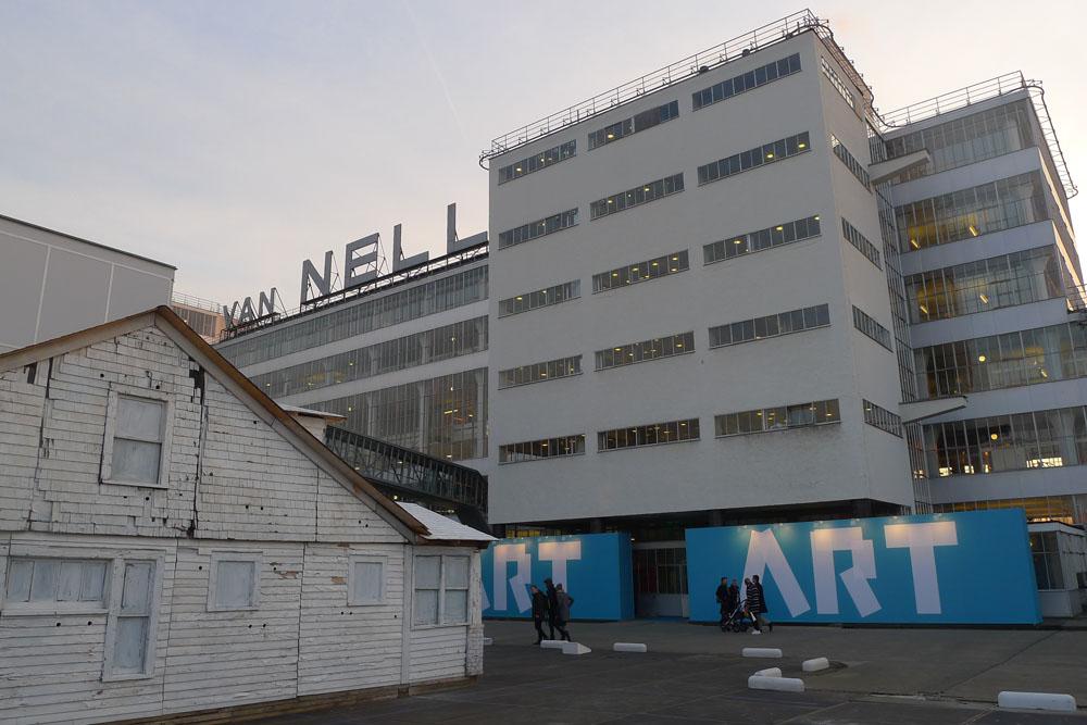Art Rotterdam: Eingang der Art Rotterdam in der Van Nellefabriek, Foto: Heiko Klaas