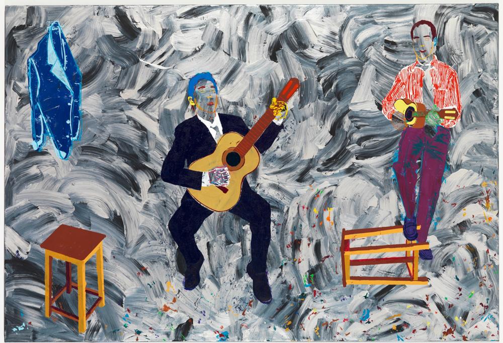 Rio: Werk von Alex Flemming - Les Guitaristes, 2011. Acrylique sur toile. Copyright Comité International Olympique CIO / Alex FLEMMING