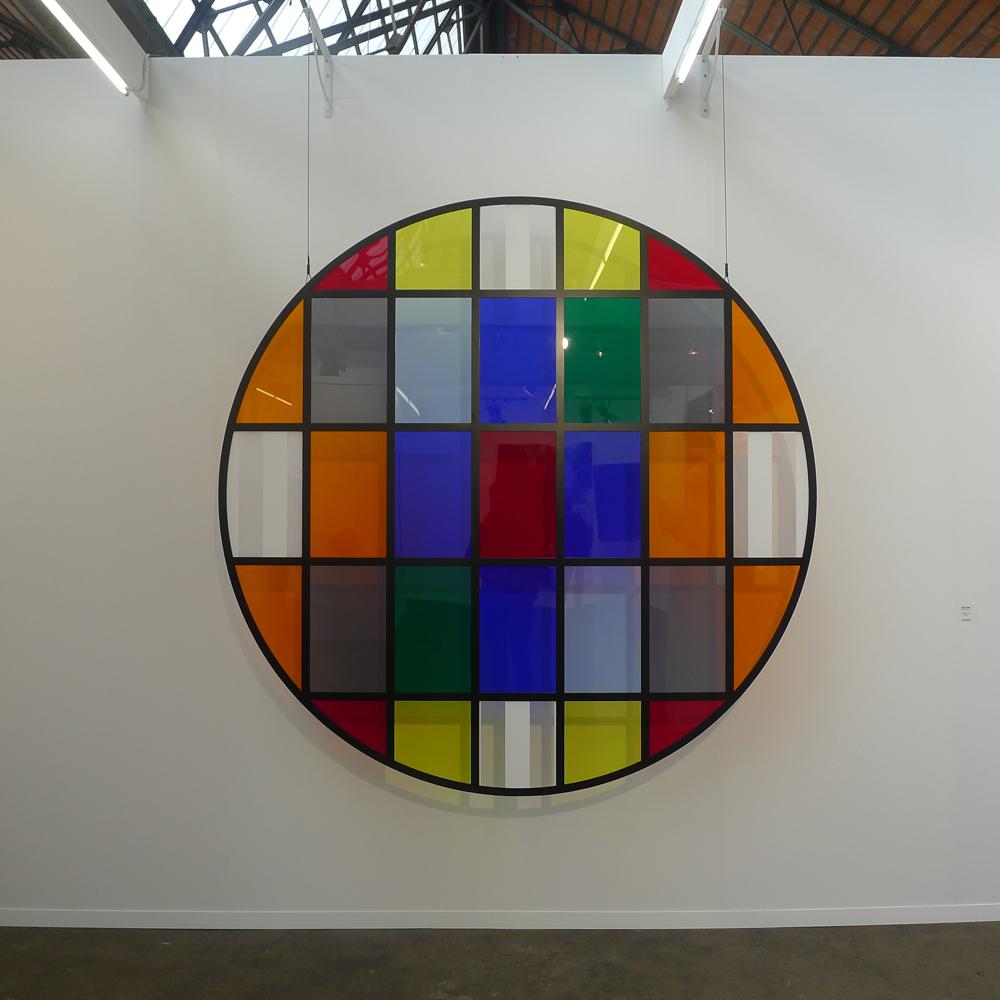 "Art Brussels: Daniel Buren: ""Tondo No. 4"" bei Galleria Continua San Gimignano, Fot: Heiko Klaas"