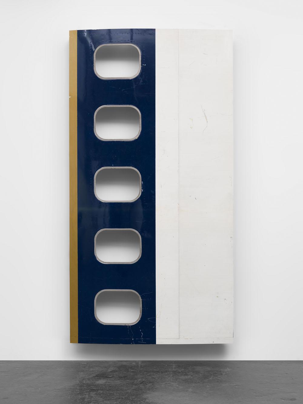 Michail Pirgelis Noble Descent, 2015 Aluminium, titan, lacquer 265 x 139 x 20 cm 104 1/4 x 54 3/4 x 7 7/8 inches © Michail Pirgelis Courtesy Sprüth Magers