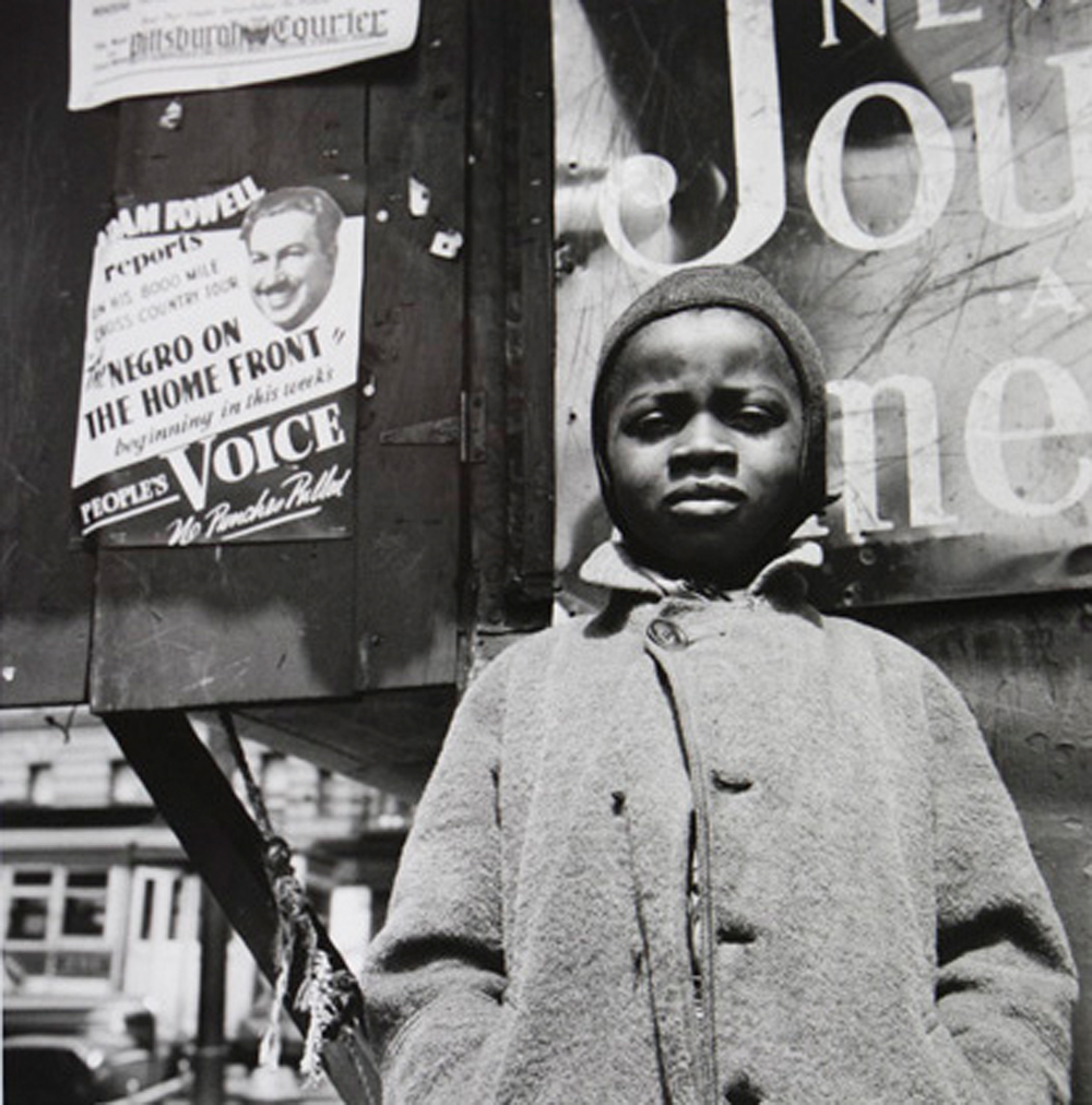 Gordon Parks Harlem Newsboy, Harlem, New York, 1943 gelatin silver print 35.9 x 35.2 cm (14 x 14 inches) (c) The Gordon Parks Foundation