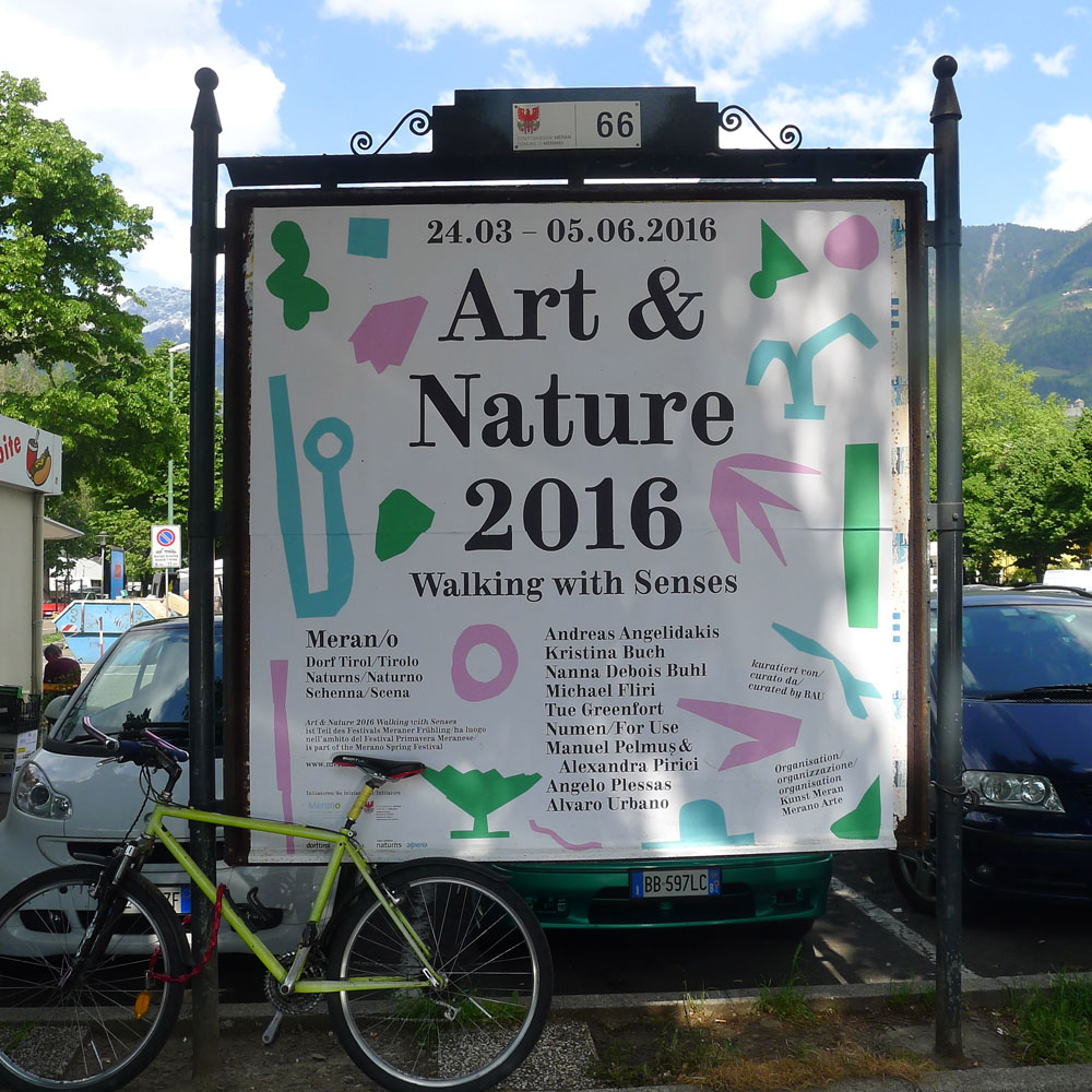 Meraner Frühling: Art & Nature, Walking with Senses: Plakat, Foto: Heiko Klaas