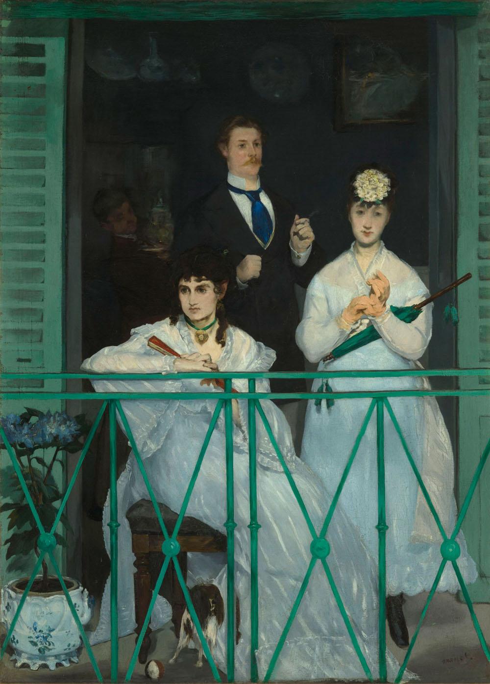 Édouard Manet (1832–1883) Le balcon / Der Balkon, um 1868/69 Öl auf Leinwand, 170 x 124,5 cm Musée d'Orsay, Paris © bpk/RMN – Grand Palais Foto: Hervé Lewandowski
