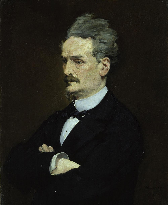 Édouard Manet (1832–1883) Henri Rochefort, 1881 Öl auf Leinwand, 81,5 x 66,5 cm Hamburger Kunsthalle © bpk/Hamburger Kunsthalle Foto: Elke Walford