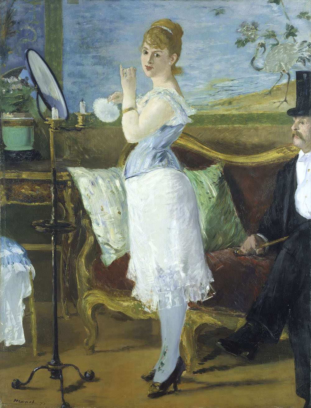 Édouard Manet (1832–1883) Nana, 1877 Öl auf Leinwand, 154 x 115 cm Hamburger Kunsthalle © bpk/Hamburger Kunsthalle Foto: Elke Walford