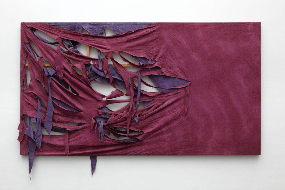 Michael Buthe My Love to Etienne, 1969,  Stoff über Keilrahmen, Kunstmuseum Luzern, © Pro Litteris, Zürich