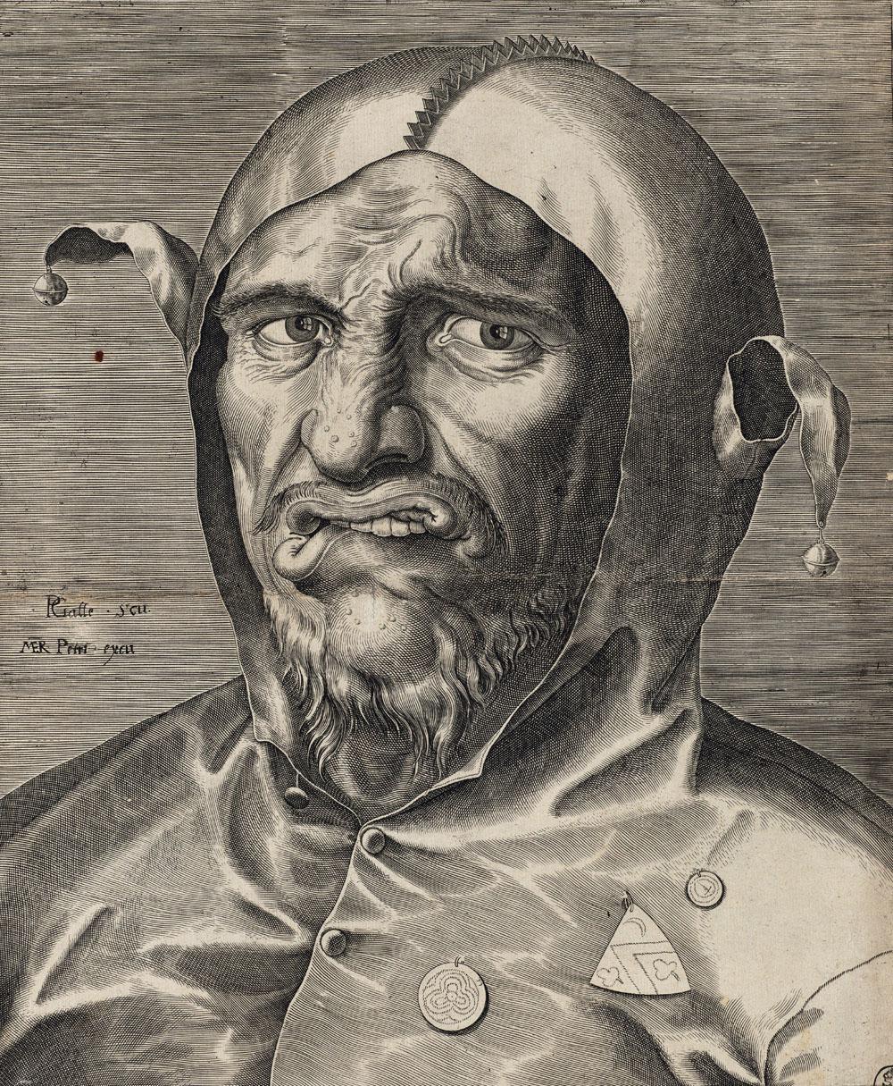 Hieronymus Bosch: Philips Galle (1537-1612): Kopf eines Narren, um 1560