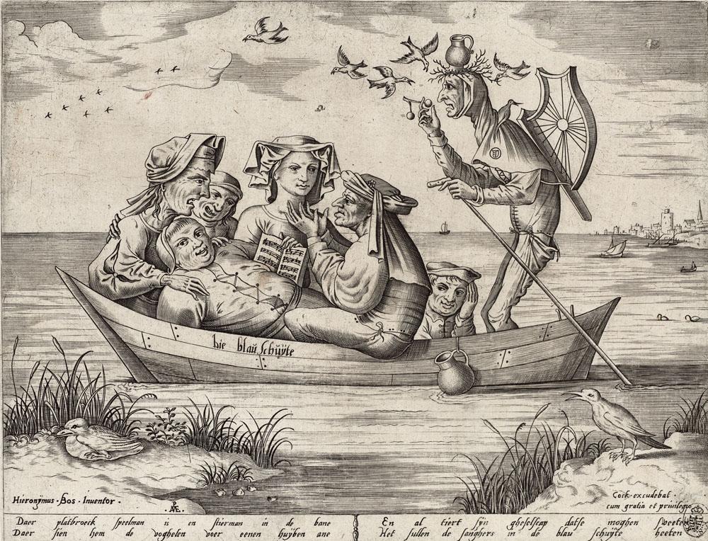 Hieronymus Bosch: Pieter van der Heyden (1530–1572) nach Hieronymus Bosch (um 1450–1516): Die blaue Schute, 1559, Kupferstich-Kabinett, Staatliche Kunstsammlungen Dresden